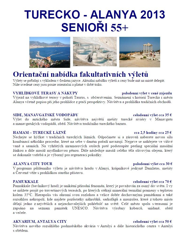 Senior 55+ Turecko Alanya