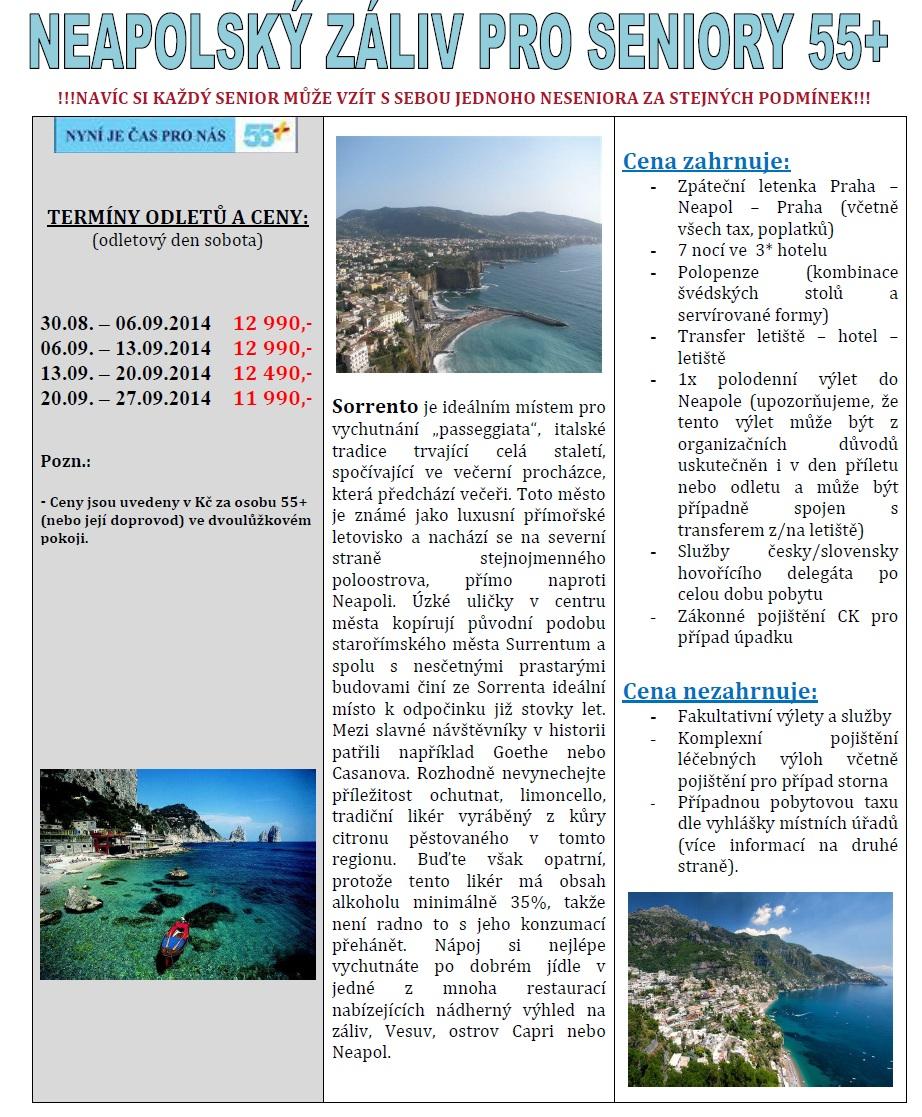 Neapolský záliv senior 55+ 2014