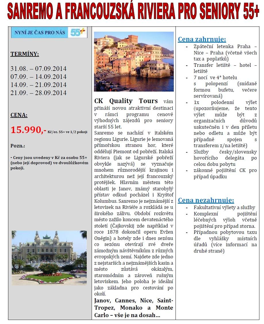 Sanremo pro seniory 55+ 2014